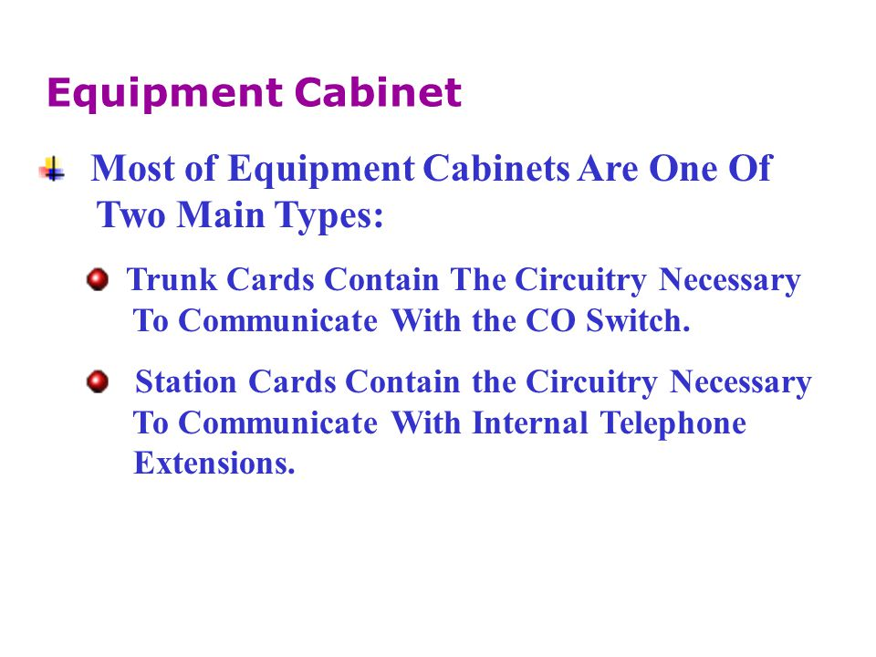 Most of Equipment Cabinets Are One Of Two Main Types: