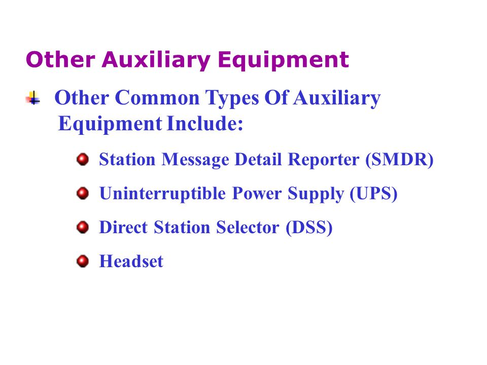 Other Auxiliary Equipment