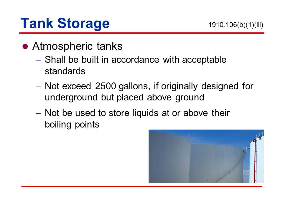 Tank Storage Atmospheric tanks