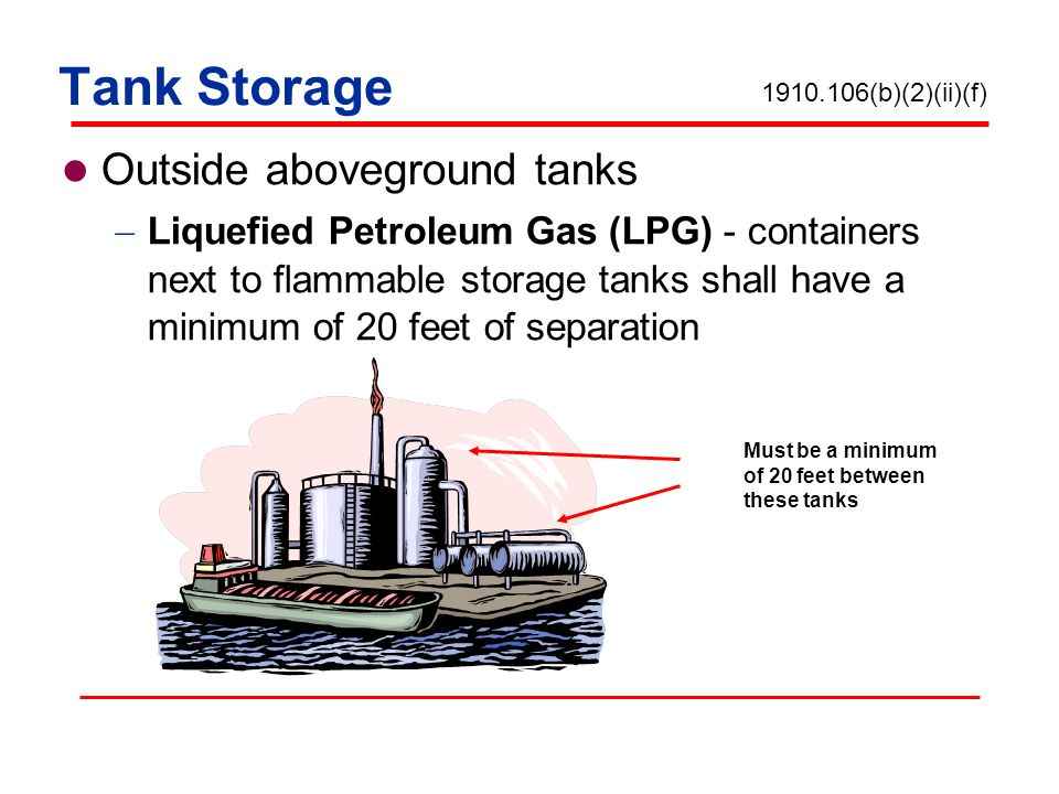 Tank Storage Outside aboveground tanks