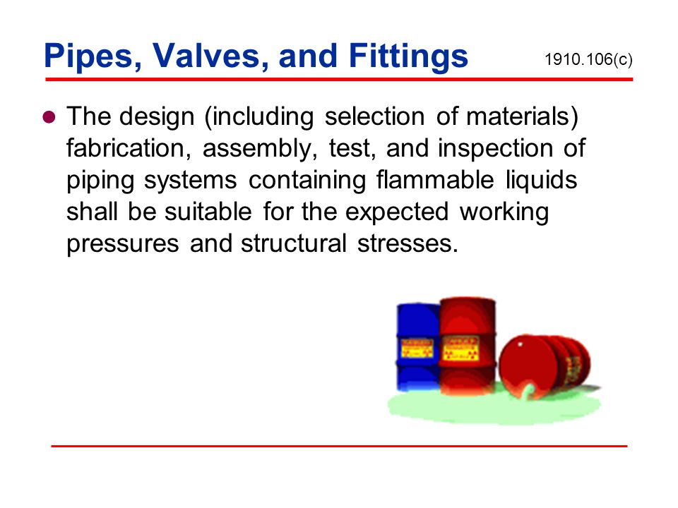 Pipes, Valves, and Fittings