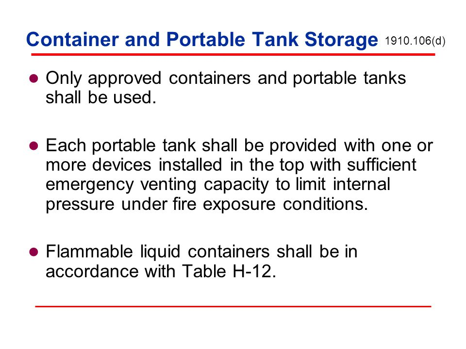 Container and Portable Tank Storage