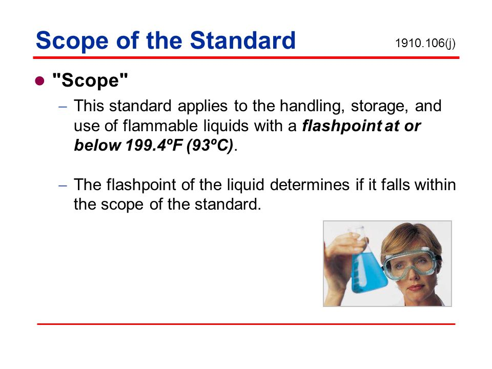 Scope of the Standard Scope