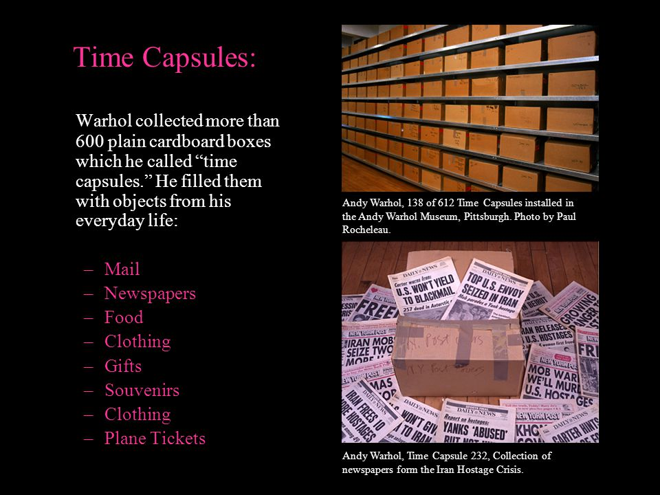 Time Capsules: