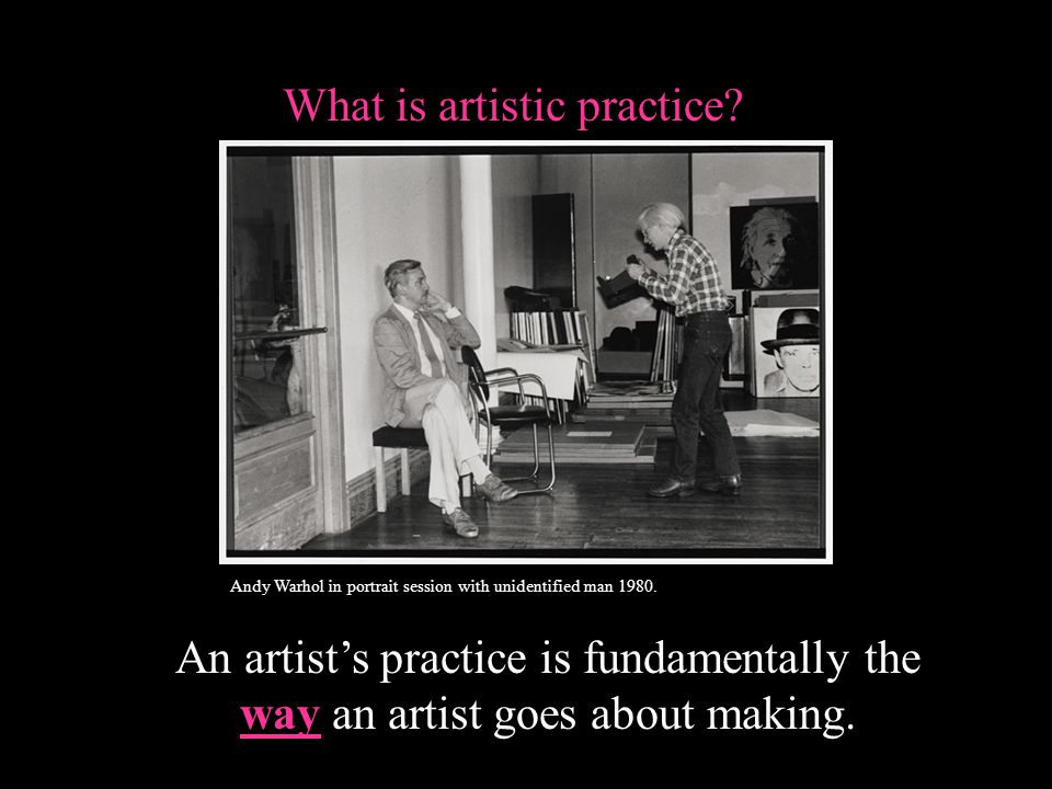 What is artistic practice