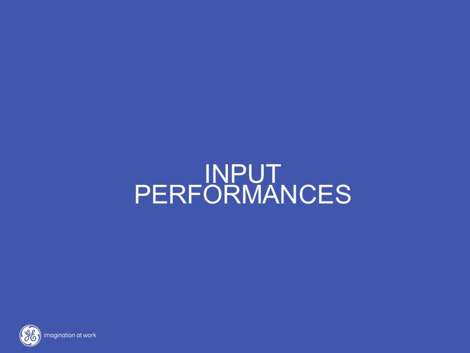 OUTPUT PERFORMANCES INPUT PERFORMANCES