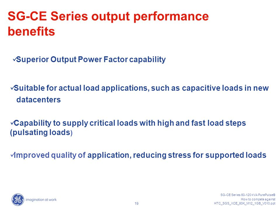 SG-CE Series output performance benefits