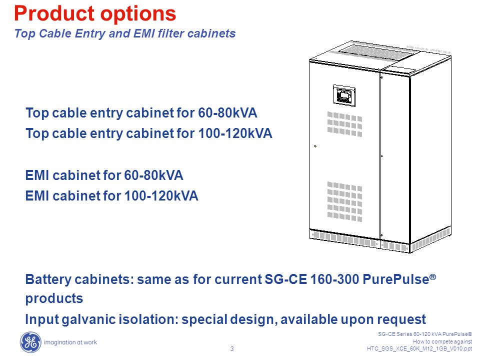 Product options Top Cable Entry and EMI filter cabinets
