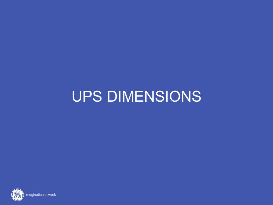 UPS DIMENSIONS