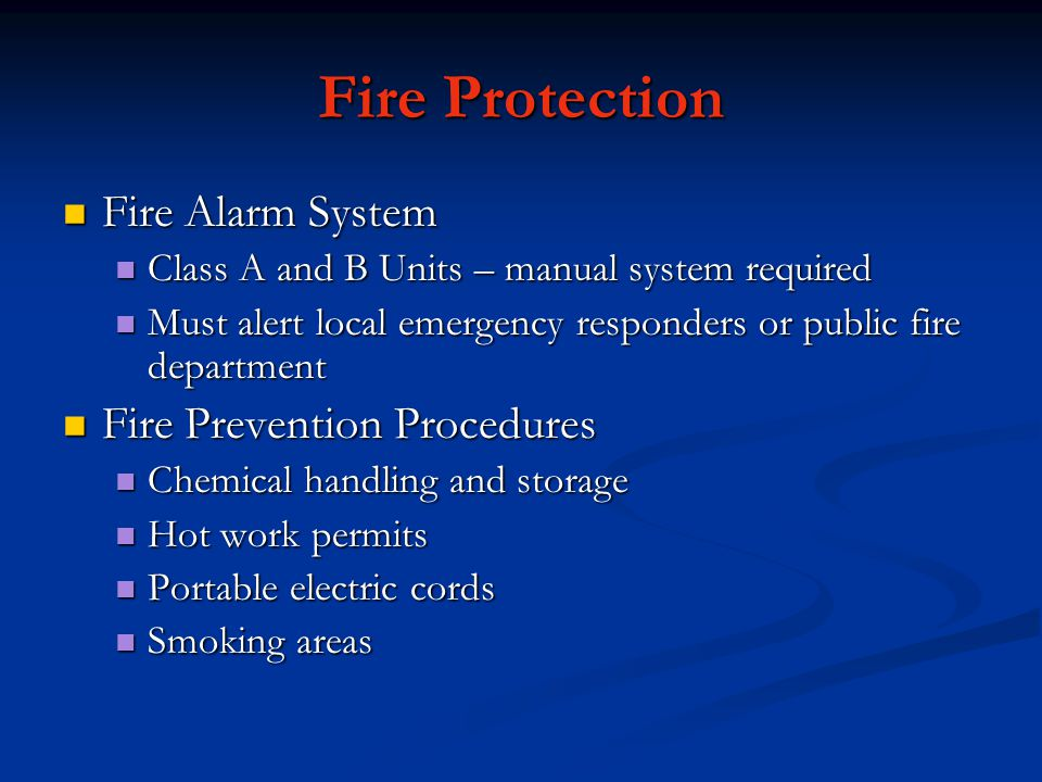 Fire Protection Fire Alarm System Fire Prevention Procedures