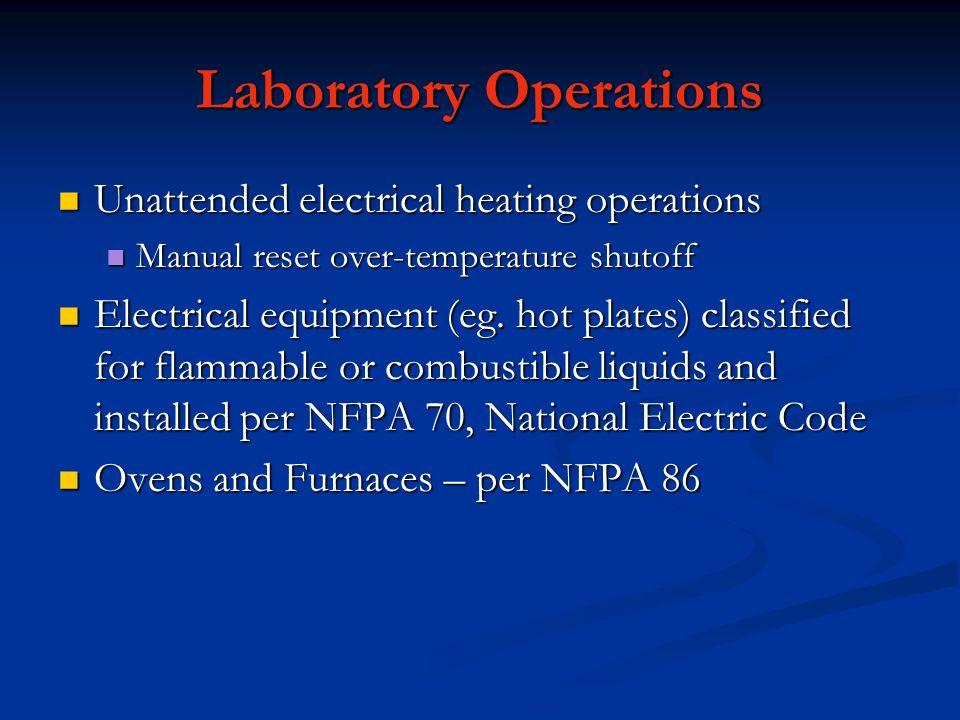Laboratory Operations