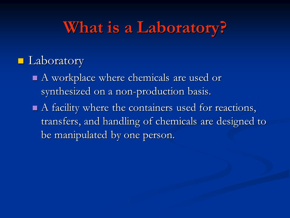 What is a Laboratory Laboratory