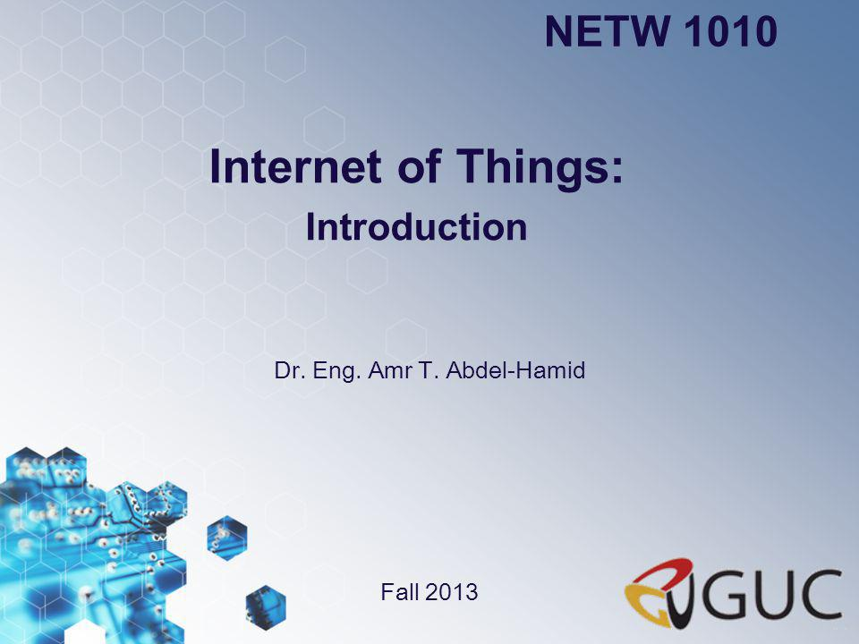 Internet of Things: Introduction