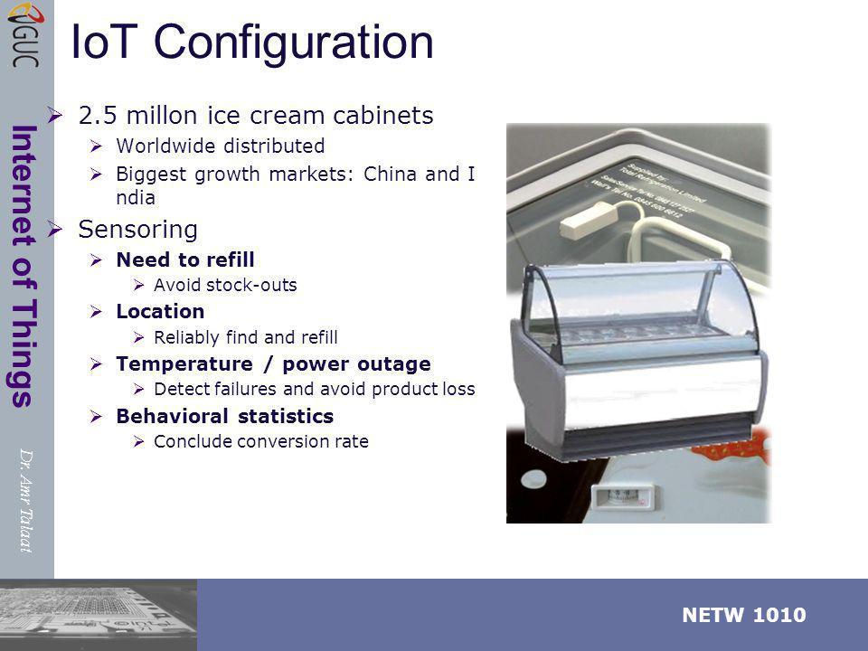 IoT Configuration 2.5 millon ice cream cabinets Sensoring