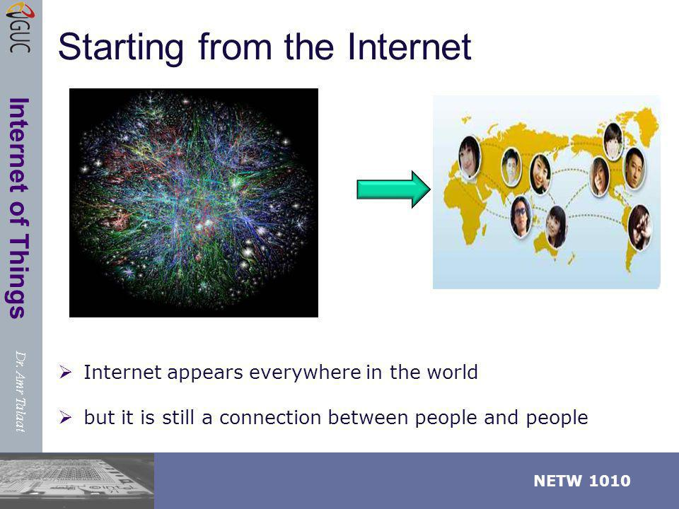 Starting from the Internet