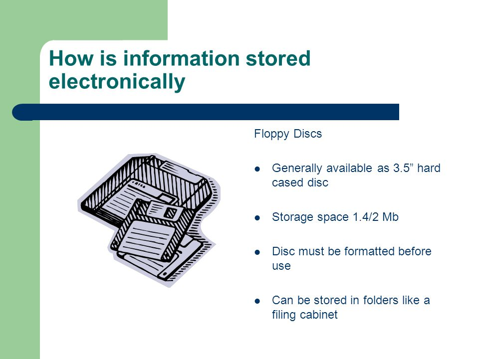 How is information stored electronically