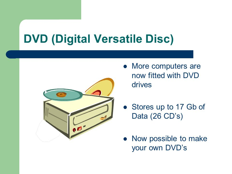 DVD (Digital Versatile Disc)