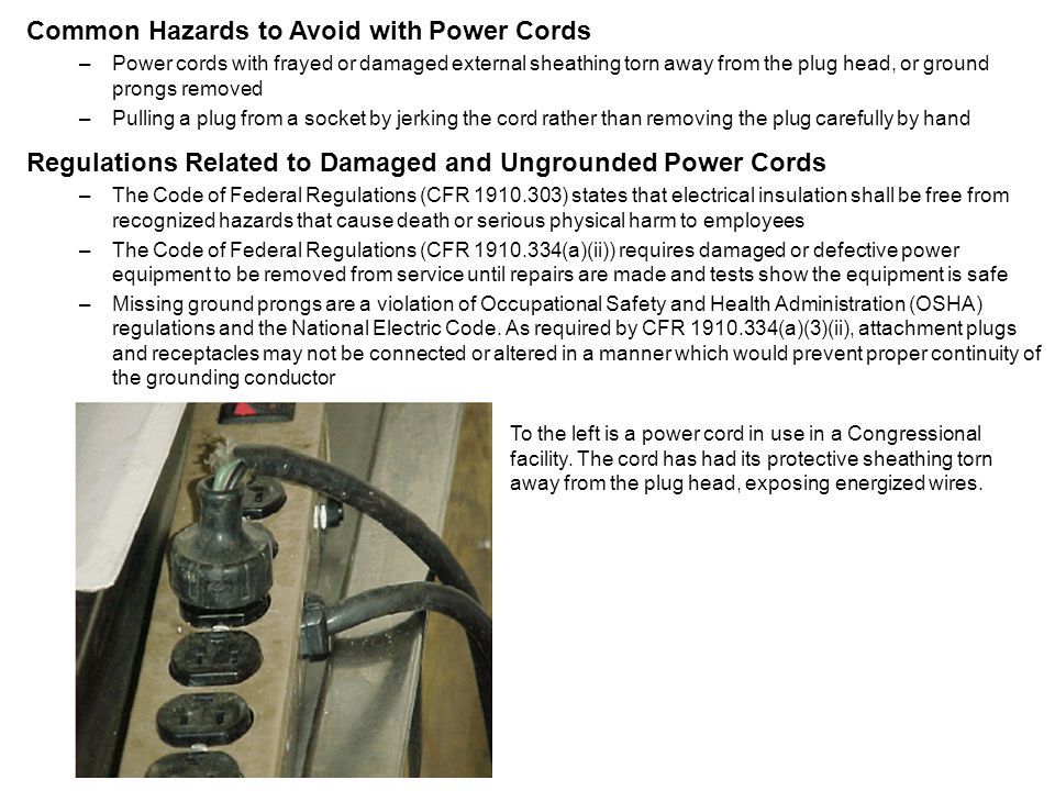 Common Hazards to Avoid with Power Cords
