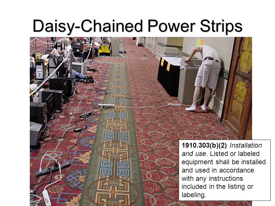 Daisy-Chained Power Strips