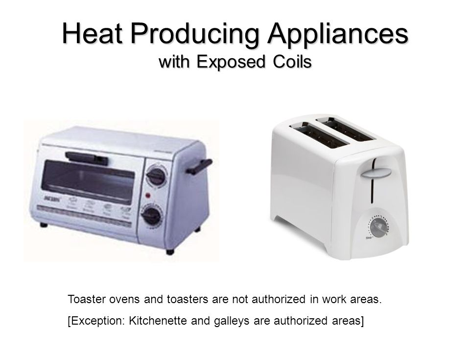 Heat Producing Appliances with Exposed Coils