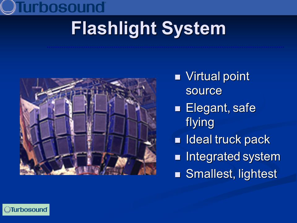 Flashlight System Virtual point source Elegant, safe flying