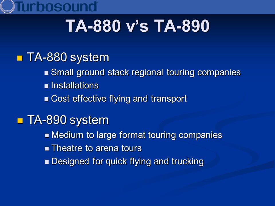 TA-880 v's TA-890 TA-880 system TA-890 system
