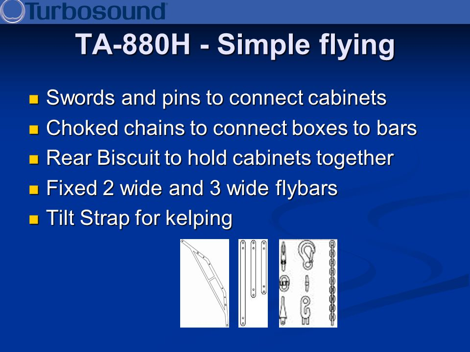 TA-880H - Simple flying Swords and pins to connect cabinets