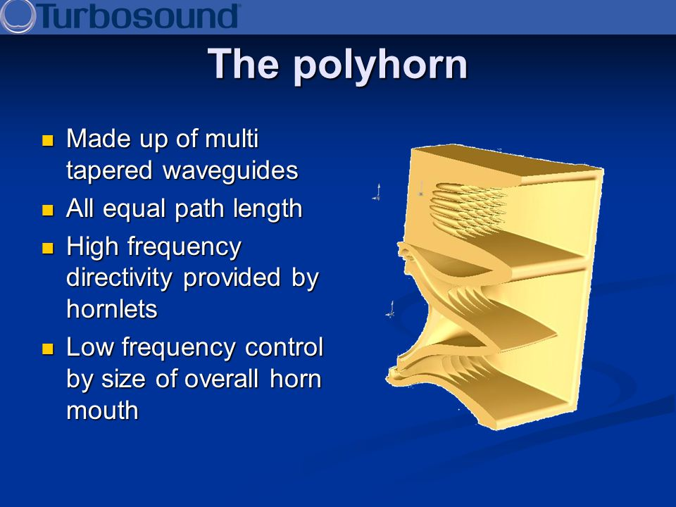 The polyhorn Made up of multi tapered waveguides All equal path length