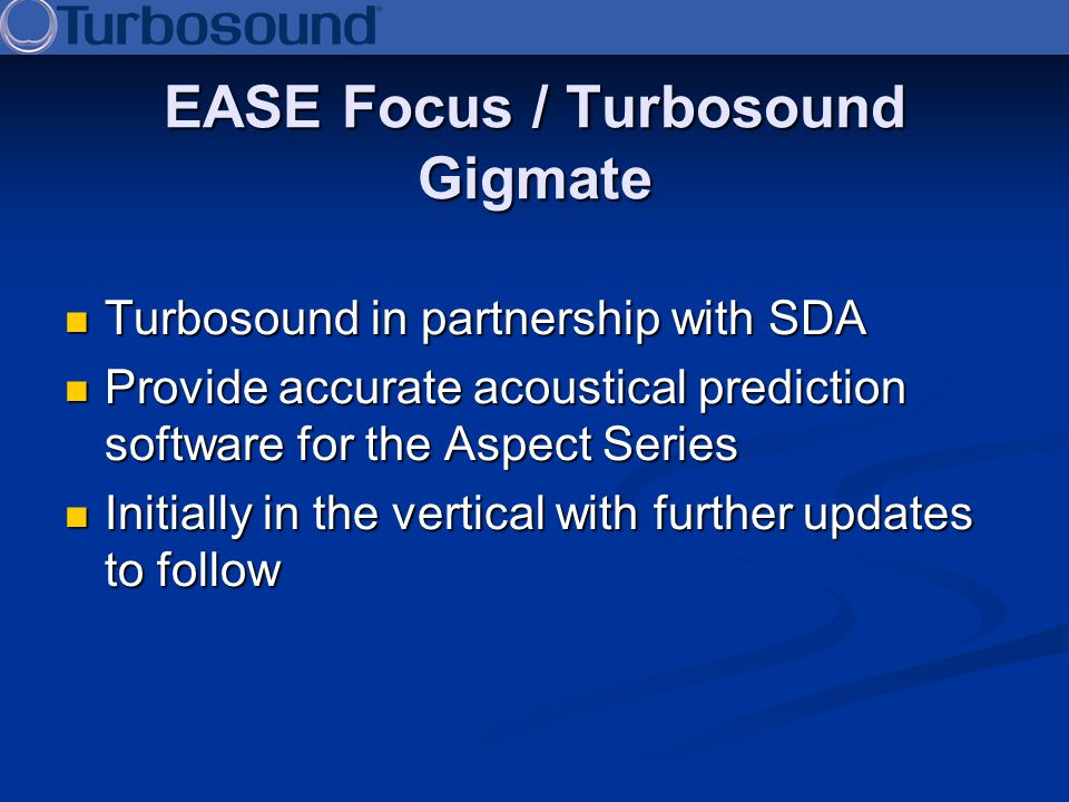 EASE Focus / Turbosound Gigmate
