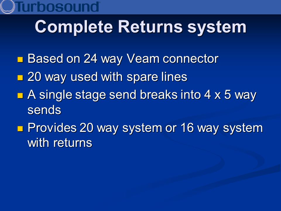 Complete Returns system