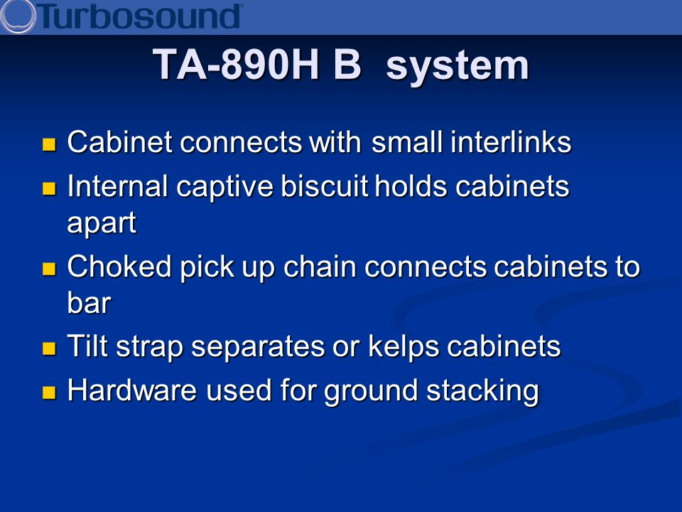 TA-890H B system Cabinet connects with small interlinks