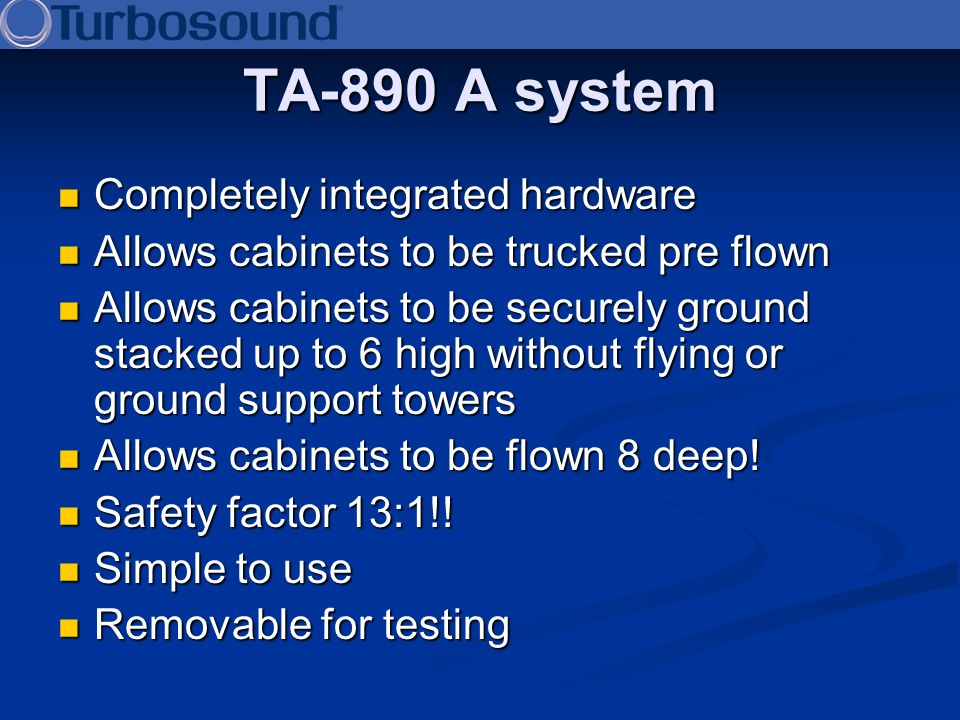 TA-890 A system Completely integrated hardware
