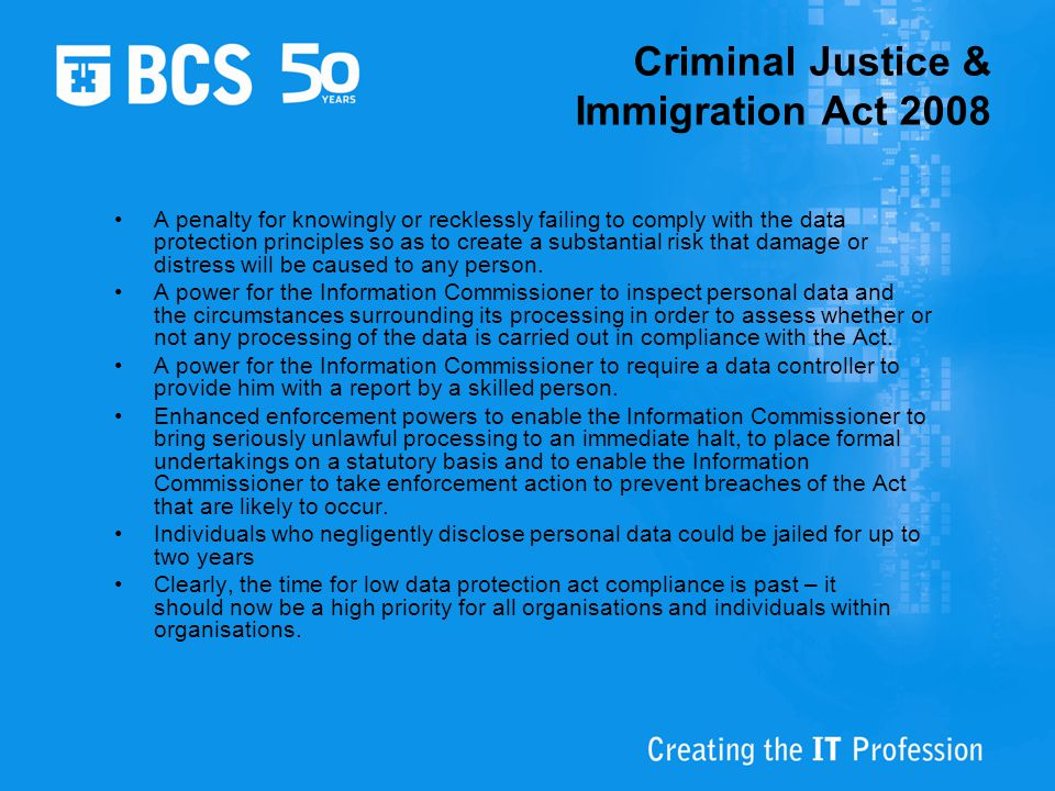 Criminal Justice & Immigration Act 2008