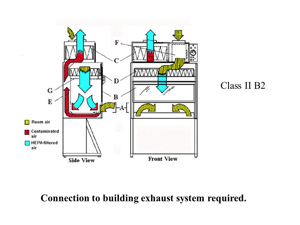 Class II B2 Connection to building exhaust system required.