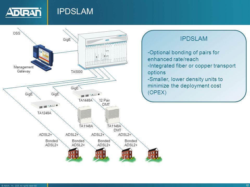 IPDSLAM IPDSLAM Optional bonding of pairs for enhanced rate/reach