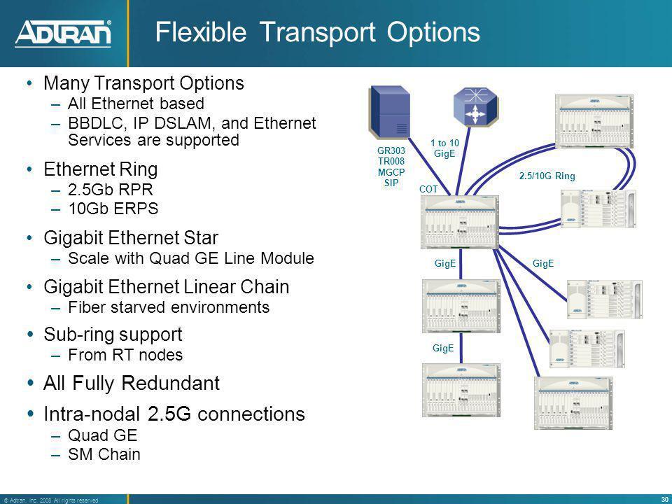 Flexible Transport Options