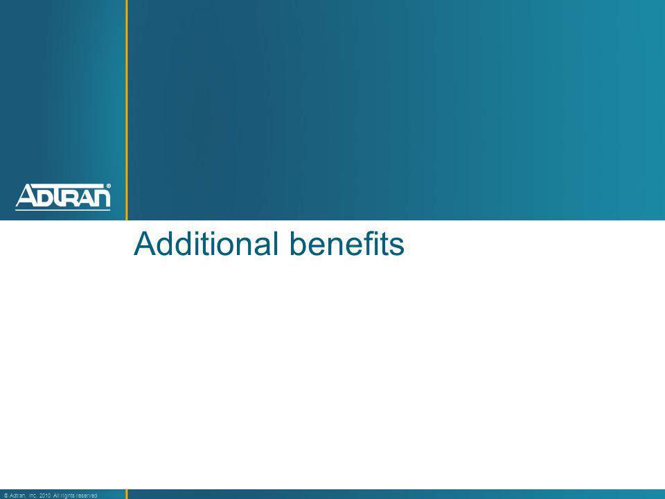 Additional benefits 33
