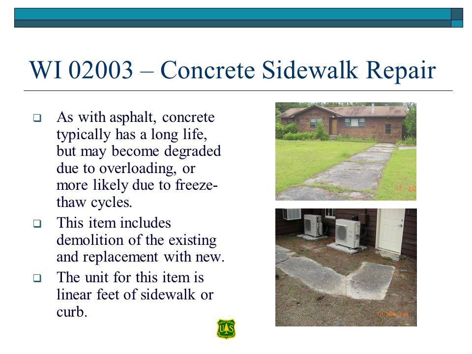 WI 02003 – Concrete Sidewalk Repair