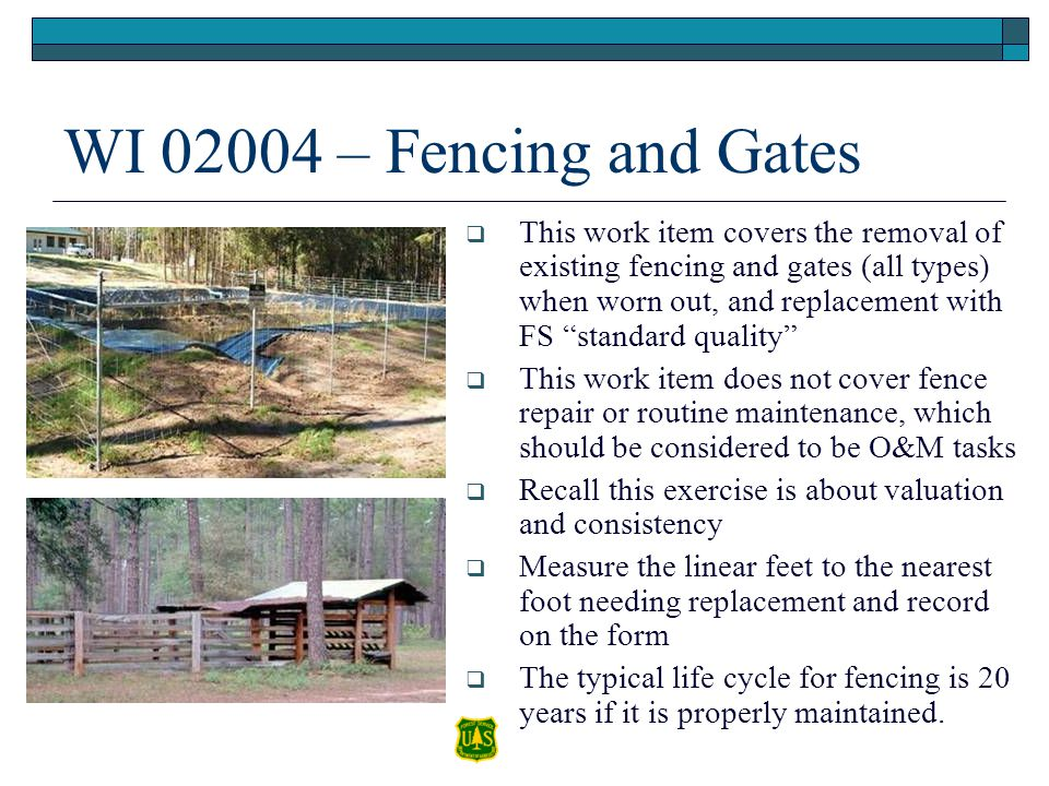 WI 02004 – Fencing and Gates