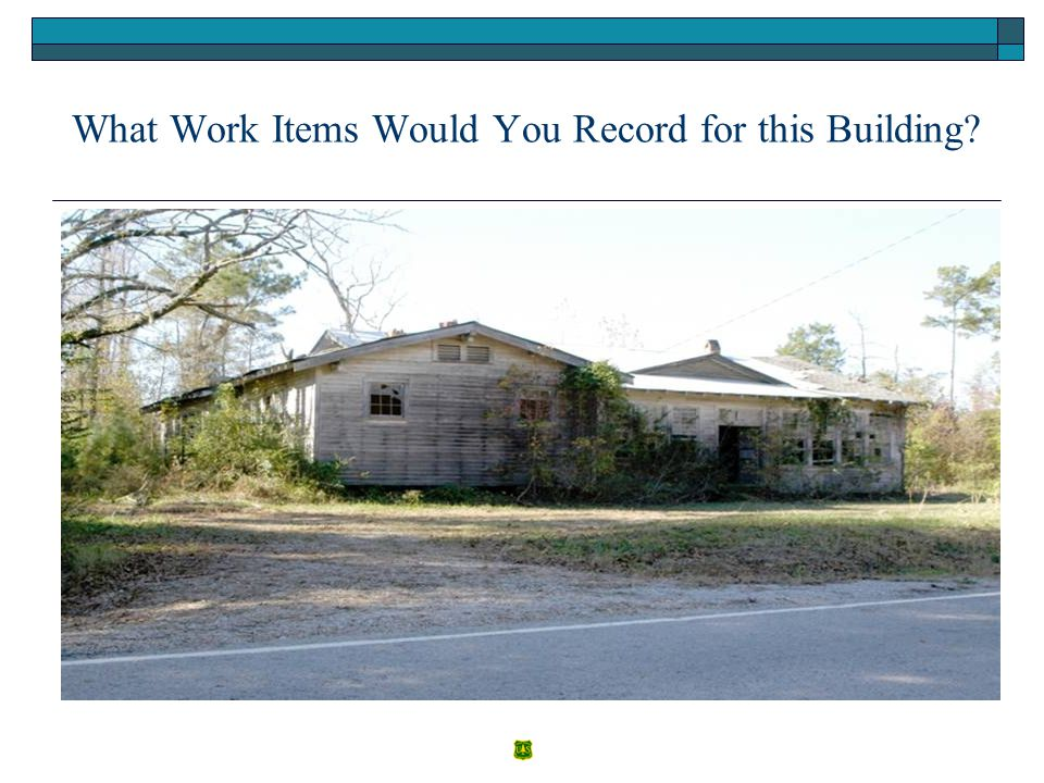 What Work Items Would You Record for this Building