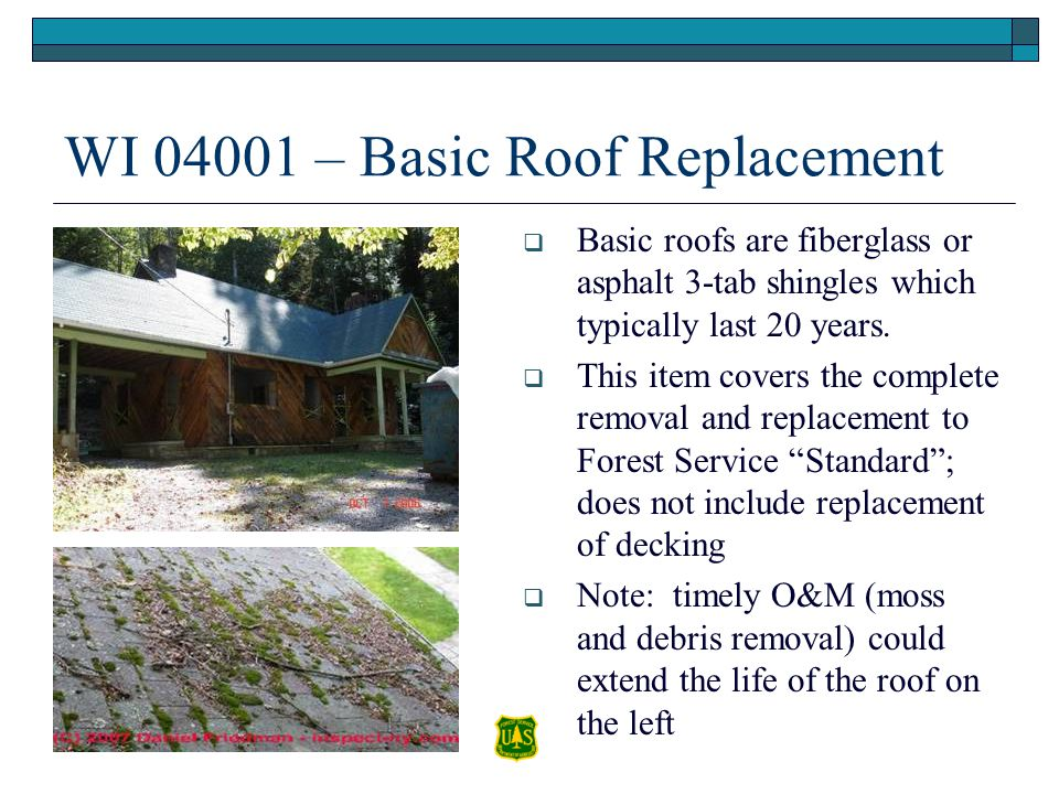 WI 04001 – Basic Roof Replacement