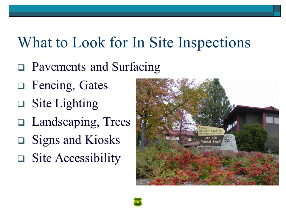 What to Look for In Site Inspections