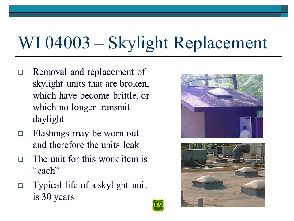 WI 04003 – Skylight Replacement