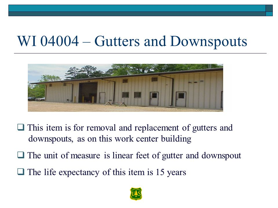 WI 04004 – Gutters and Downspouts