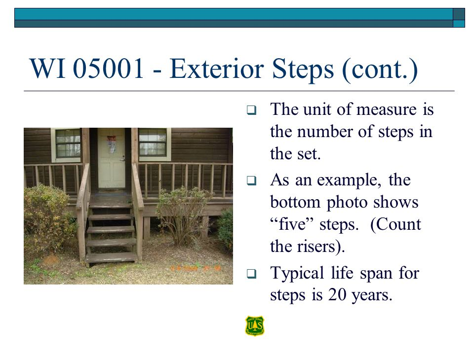 WI 05001 - Exterior Steps (cont.)