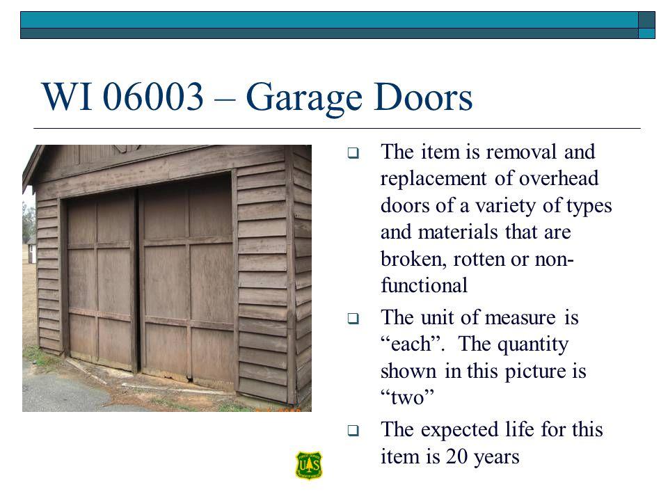 WI 06003 – Garage Doors