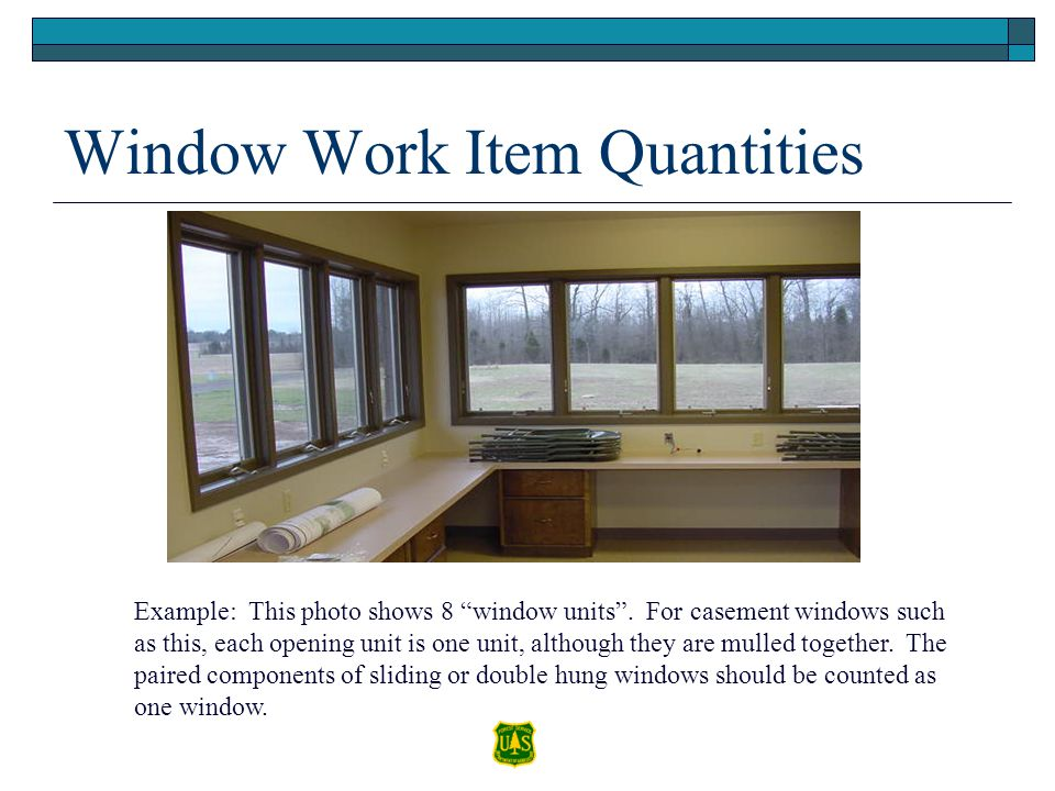 Window Work Item Quantities