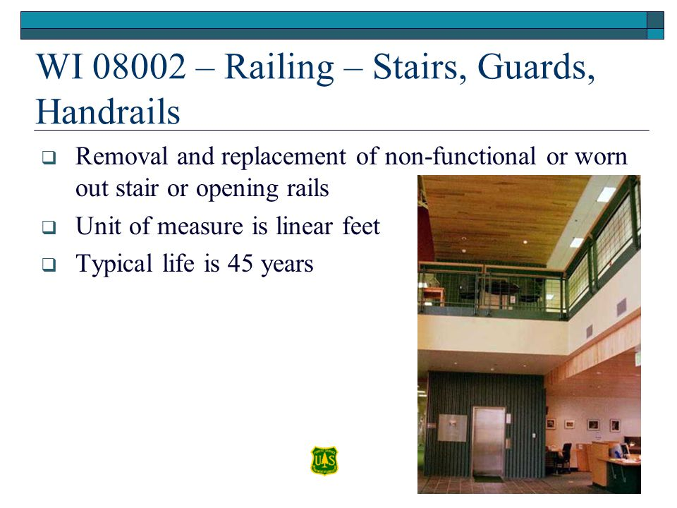 WI 08002 – Railing – Stairs, Guards, Handrails