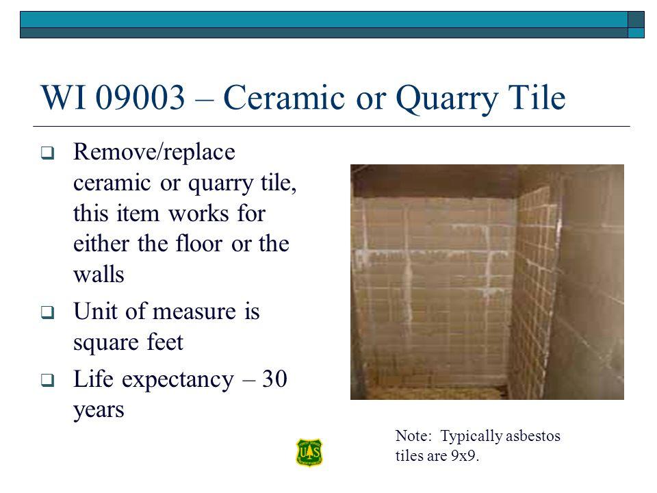 WI 09003 – Ceramic or Quarry Tile