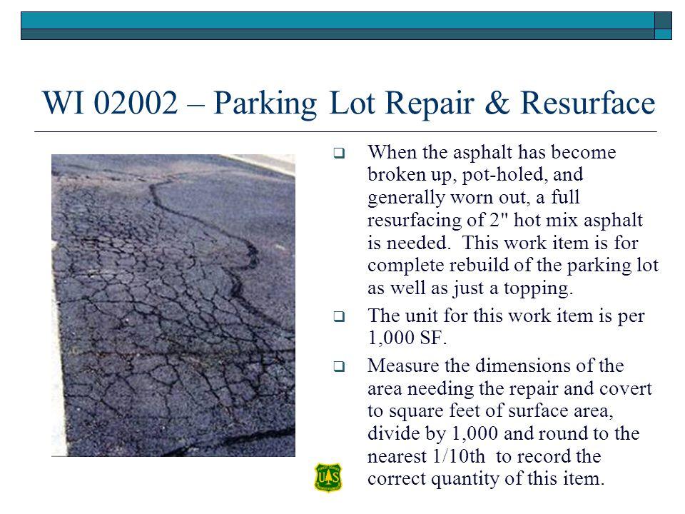 WI 02002 – Parking Lot Repair & Resurface